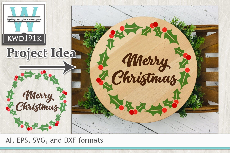 Christmas Svg Holly Wreath 287717 Cut Files Design Bundles