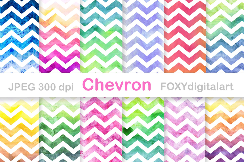 Watercolor Chevron Background Zigzag Digital Paper 328459 Backgrounds Design Bundles