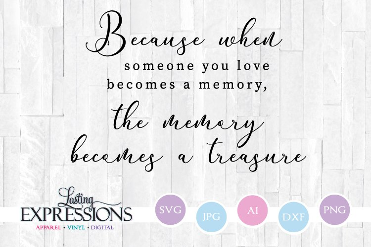 Memorial Quote Memory Becomes A Treasure Wood Sign Svg 294789 Svgs Design Bundles