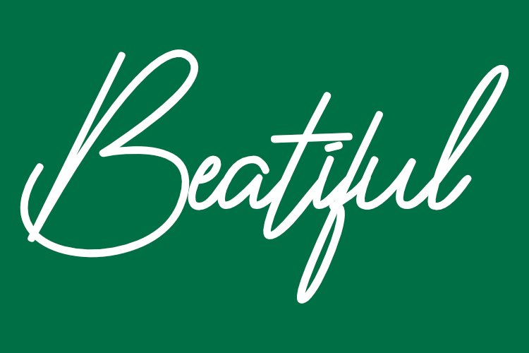 Vaniline signature - hairline font example image 6