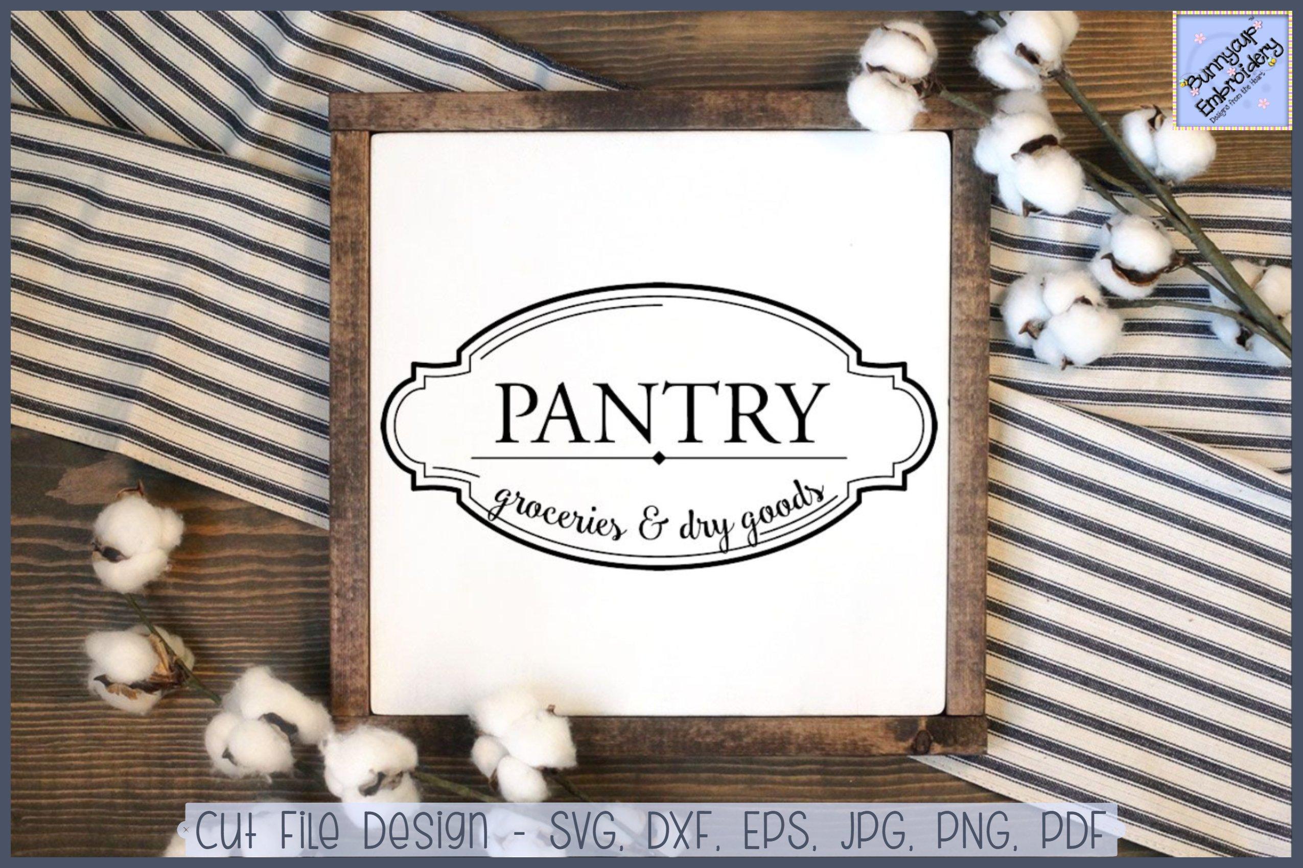 Farmhouse Pantry Groceries And Dry Goods Svg Clipart 301960 Cut Files Design Bundles
