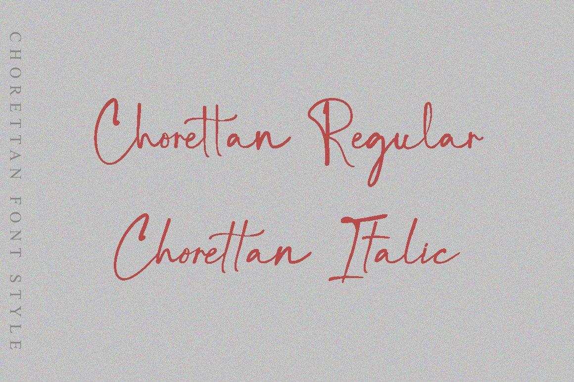 Chorettan Font example image 2