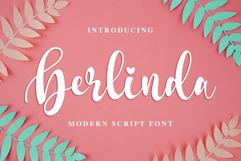 Berlinda - Modern Script Font example image 1