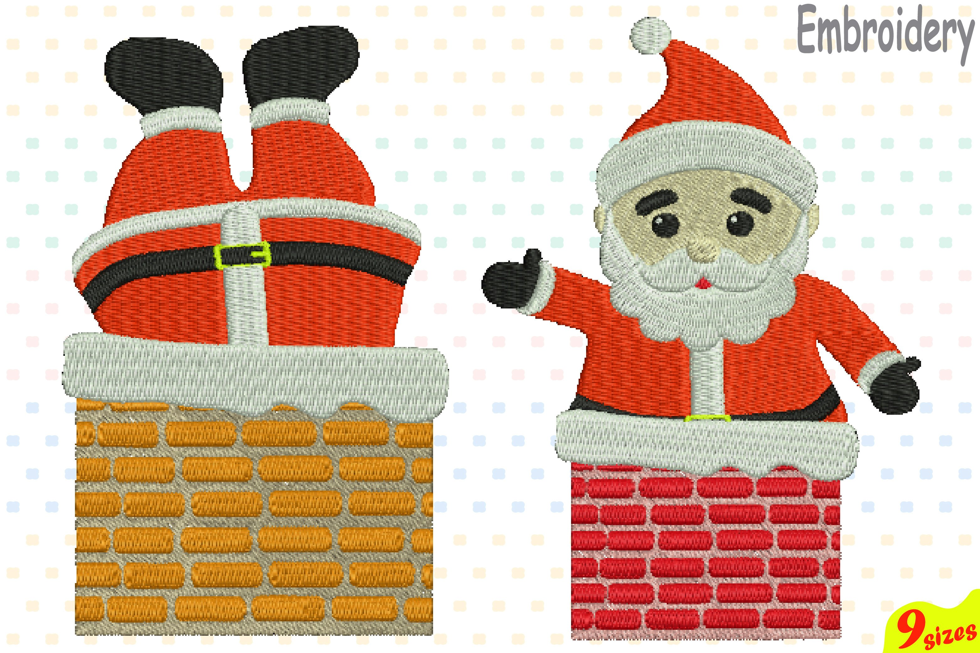 Santa Claus is coming to town Designs for Embroidery Machine Instant Download Commercial Use digital file 4x4 5x7 hoop icon symbol sign 116b