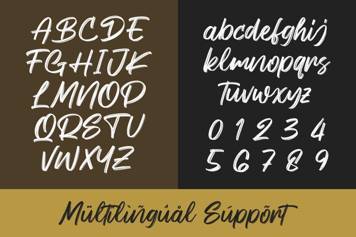 Keypass - Handbrush Font example image 7