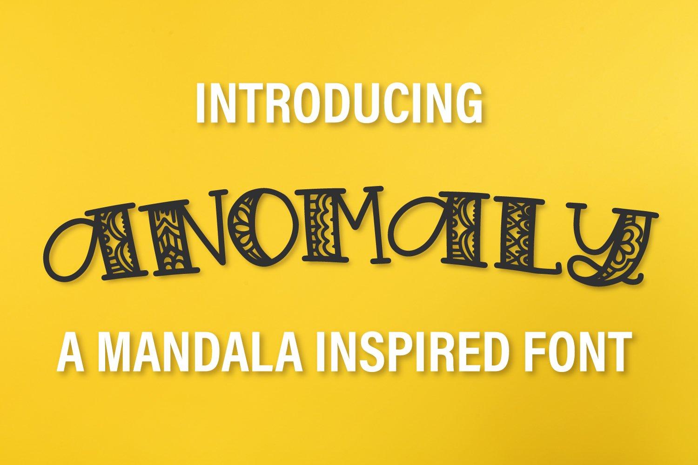 Anomaly - A Mandala Inspired Font example image 1