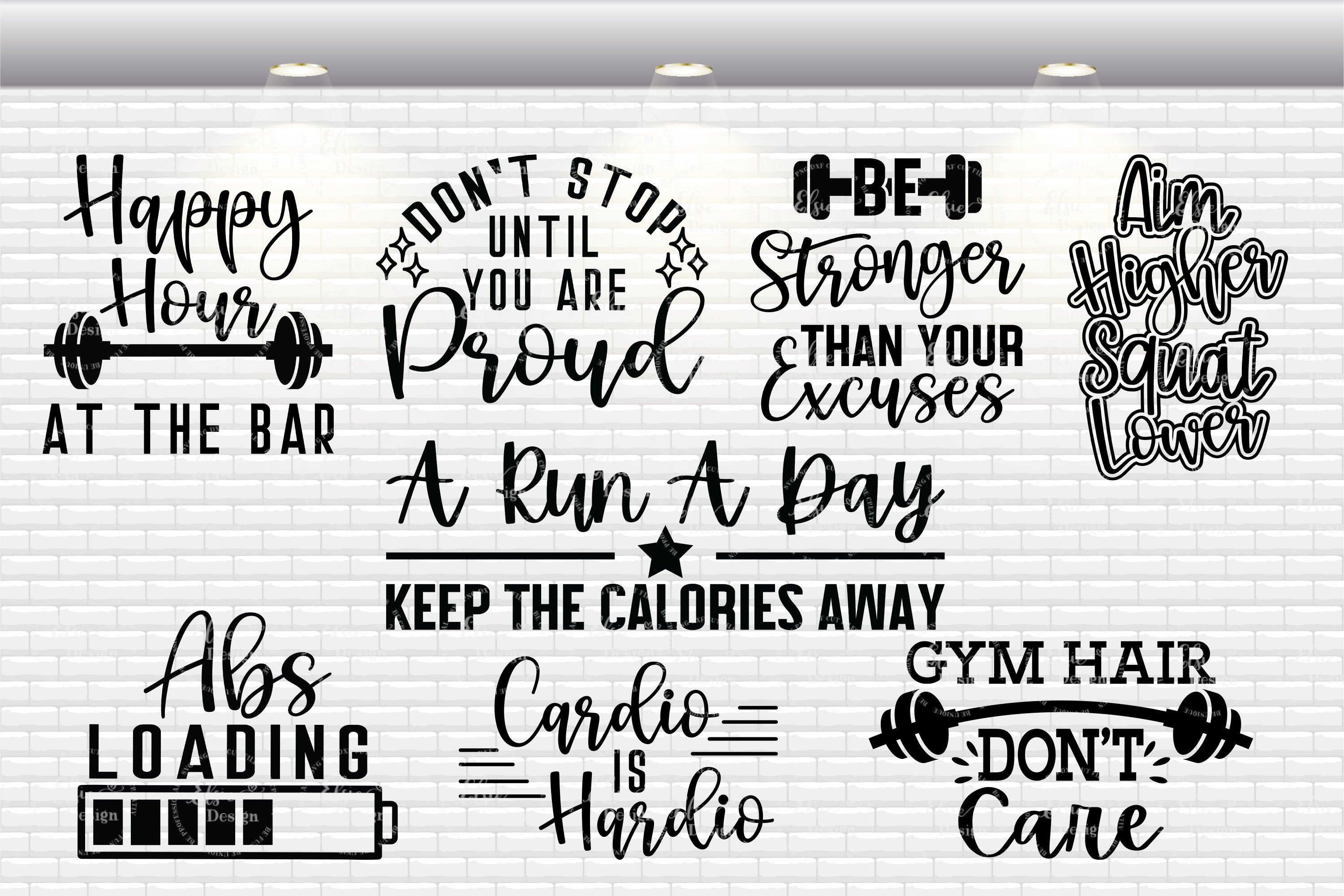 Workout Bundle - Fitness Bundle SVG Cut Files example image 3