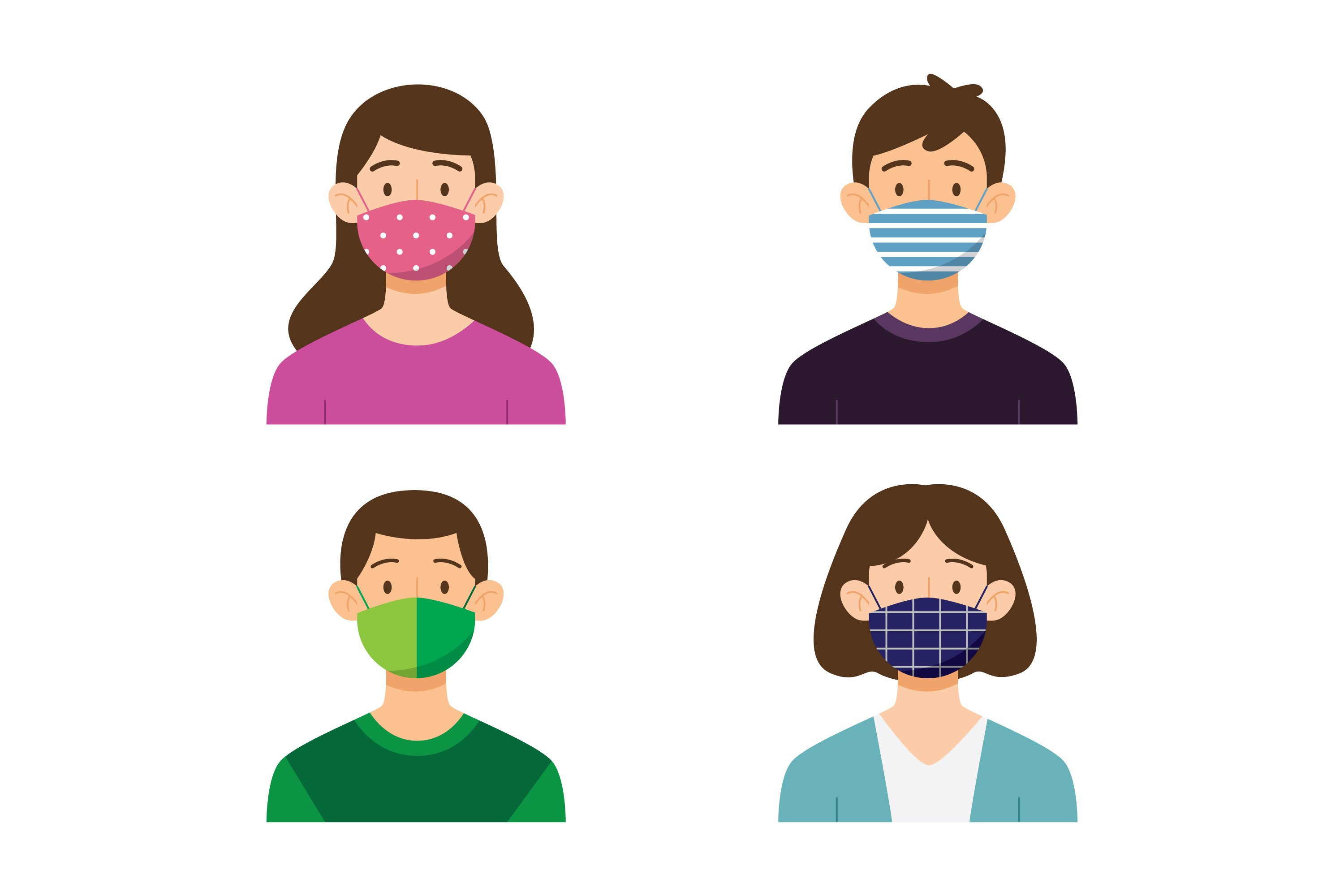 People Wearing Fabric Face Mask example image 1