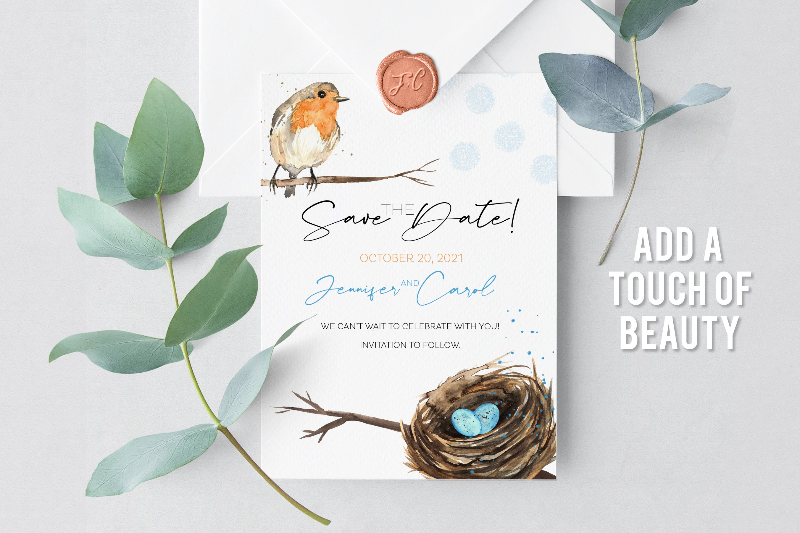 Birds Nest and Eggs Watercolor Clip Art Illustrations example image 2