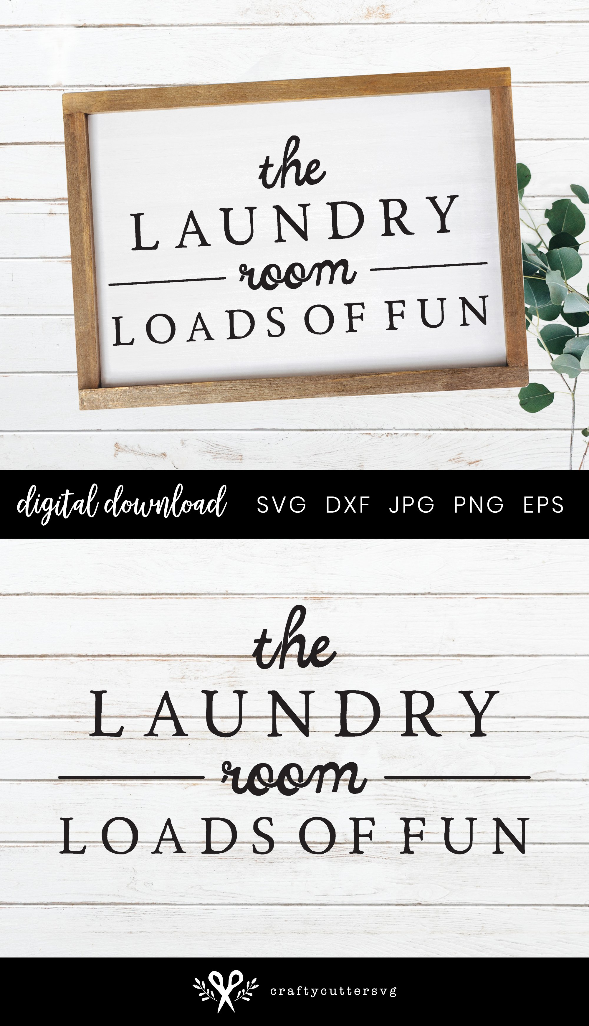 Check your Pockets Farmhouse Laundry Room Sign SVG example image 3