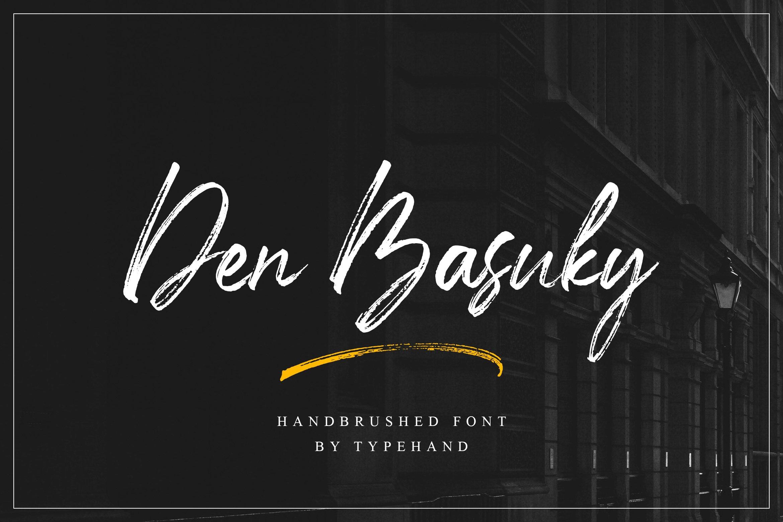 Den Basuky - Rustic Brush Font example image 1