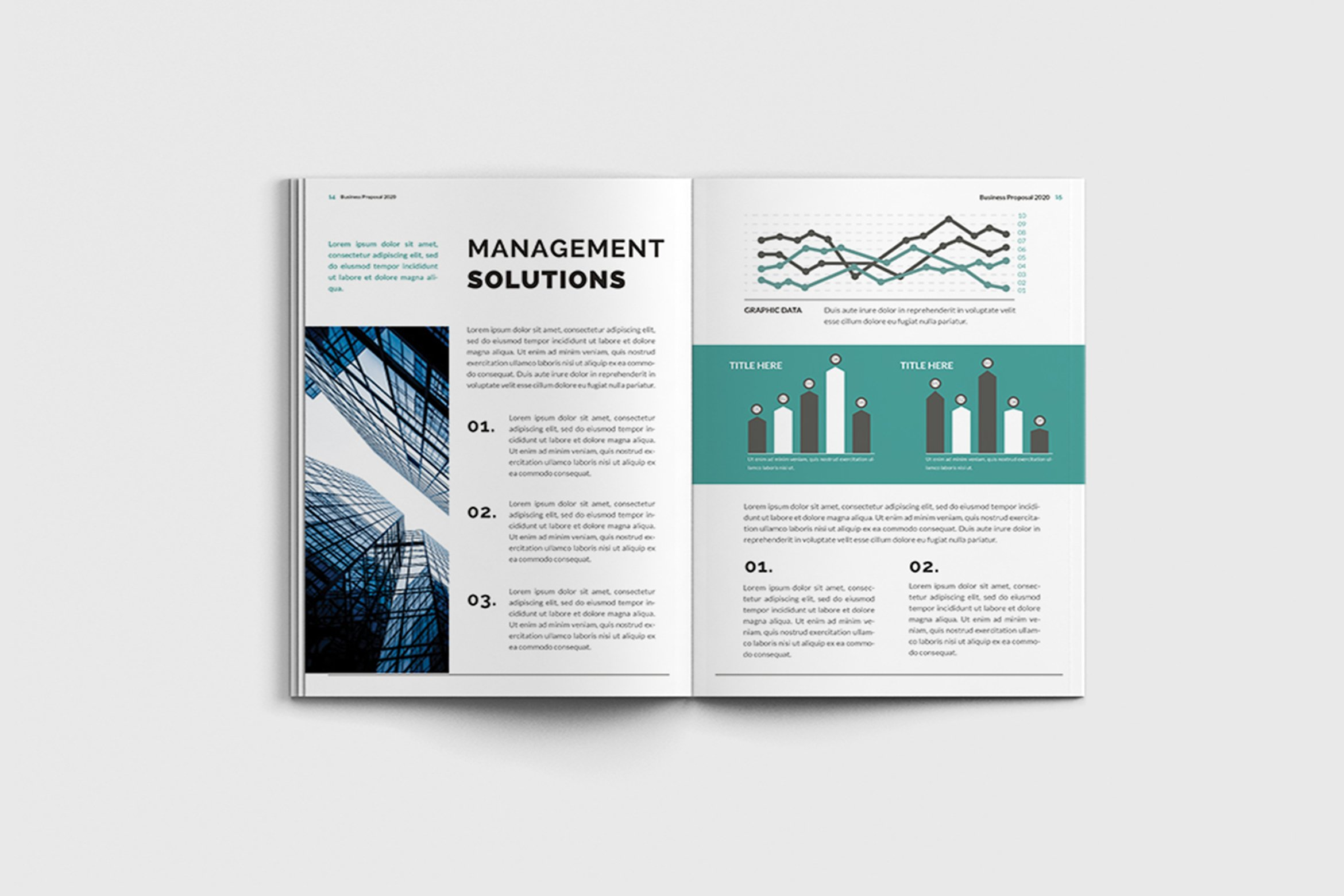 Mager - A4 Management Brochure Template example image 11