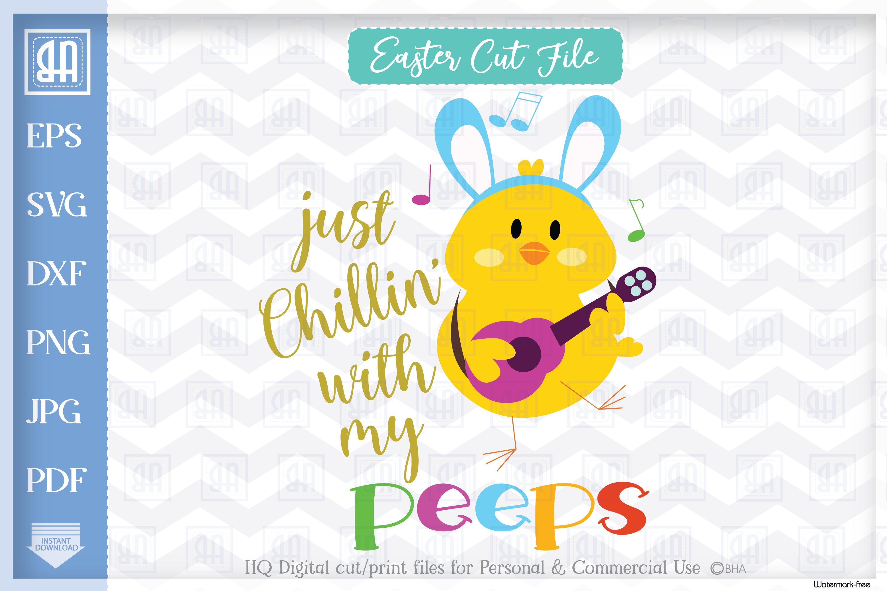 Chillin With My Peeps Easter Cuttable File Easter Chick 518553 Cut Files Design Bundles
