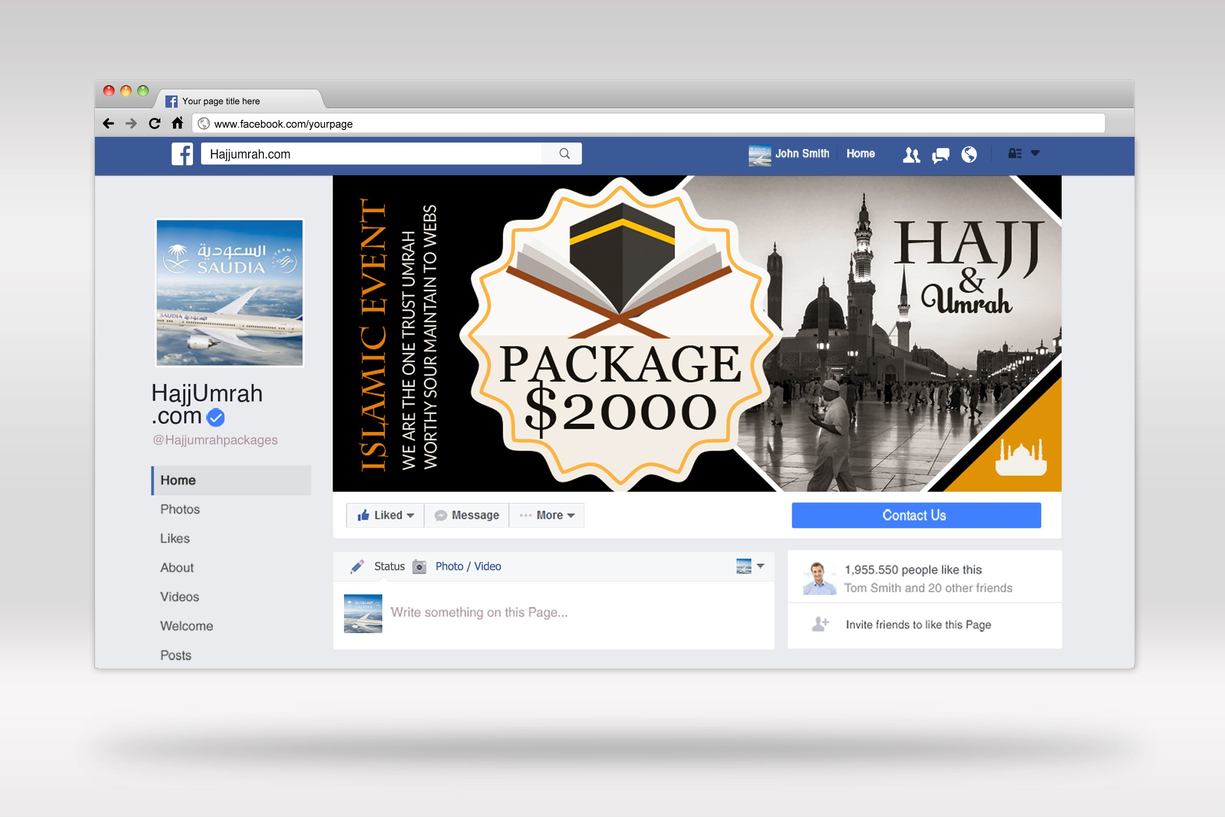 Hajj & Umrah Packages Facebook Banner example image 2