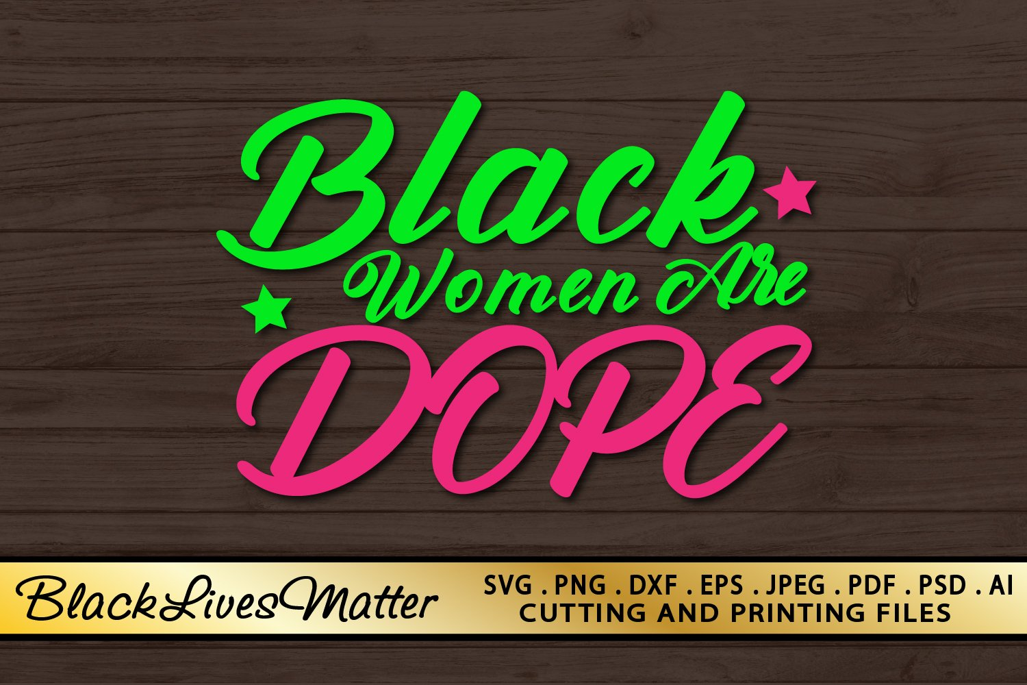 Black Woman SVG PNG EPS DXF Files For Cutting and Printing example image 3