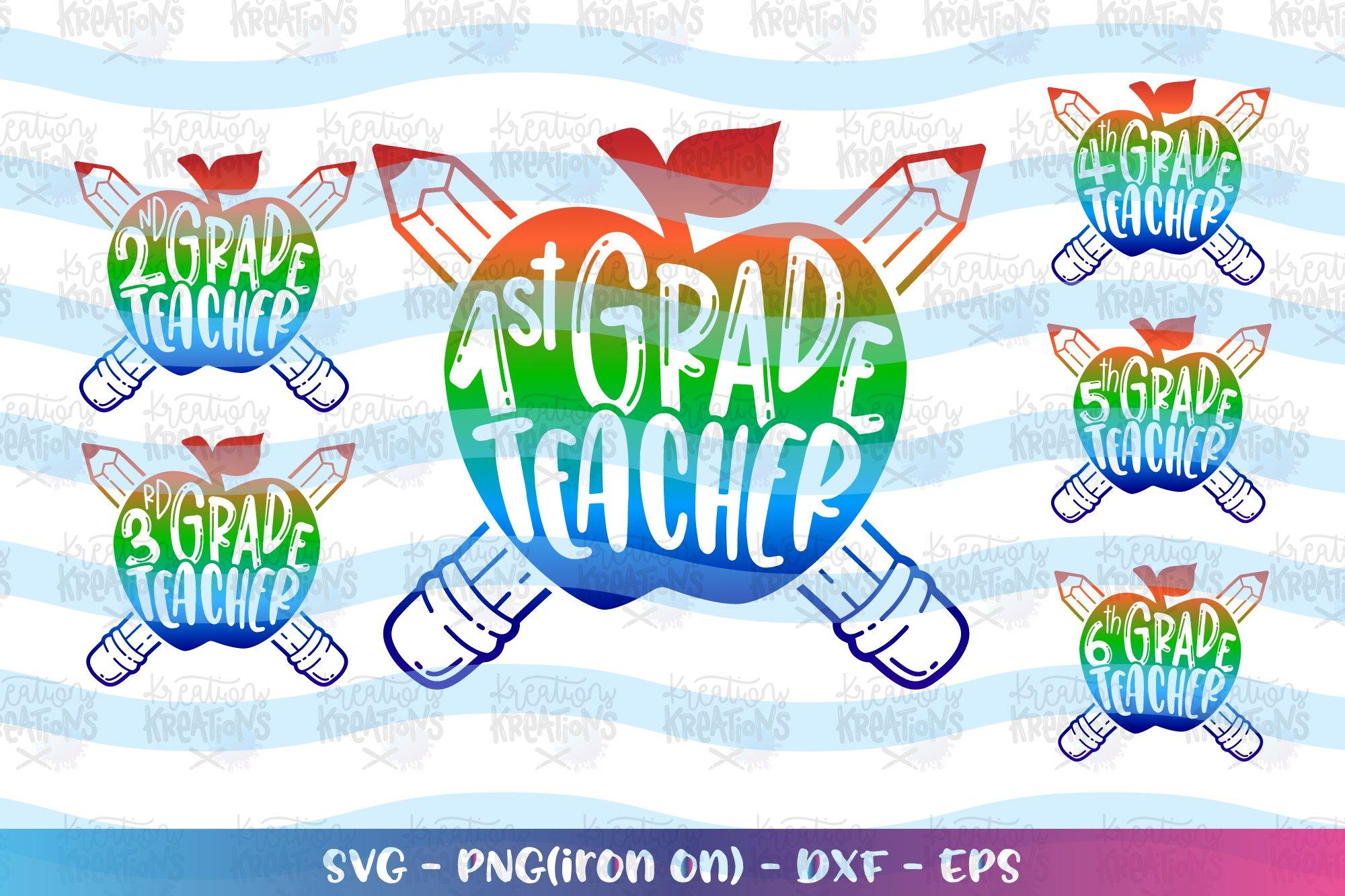 Teacher svg Bund svg Pack Back to school 1st-6th grade example image 1