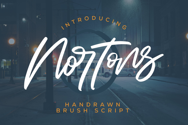 Nortons - Handrawn Brush Script Font example image 1