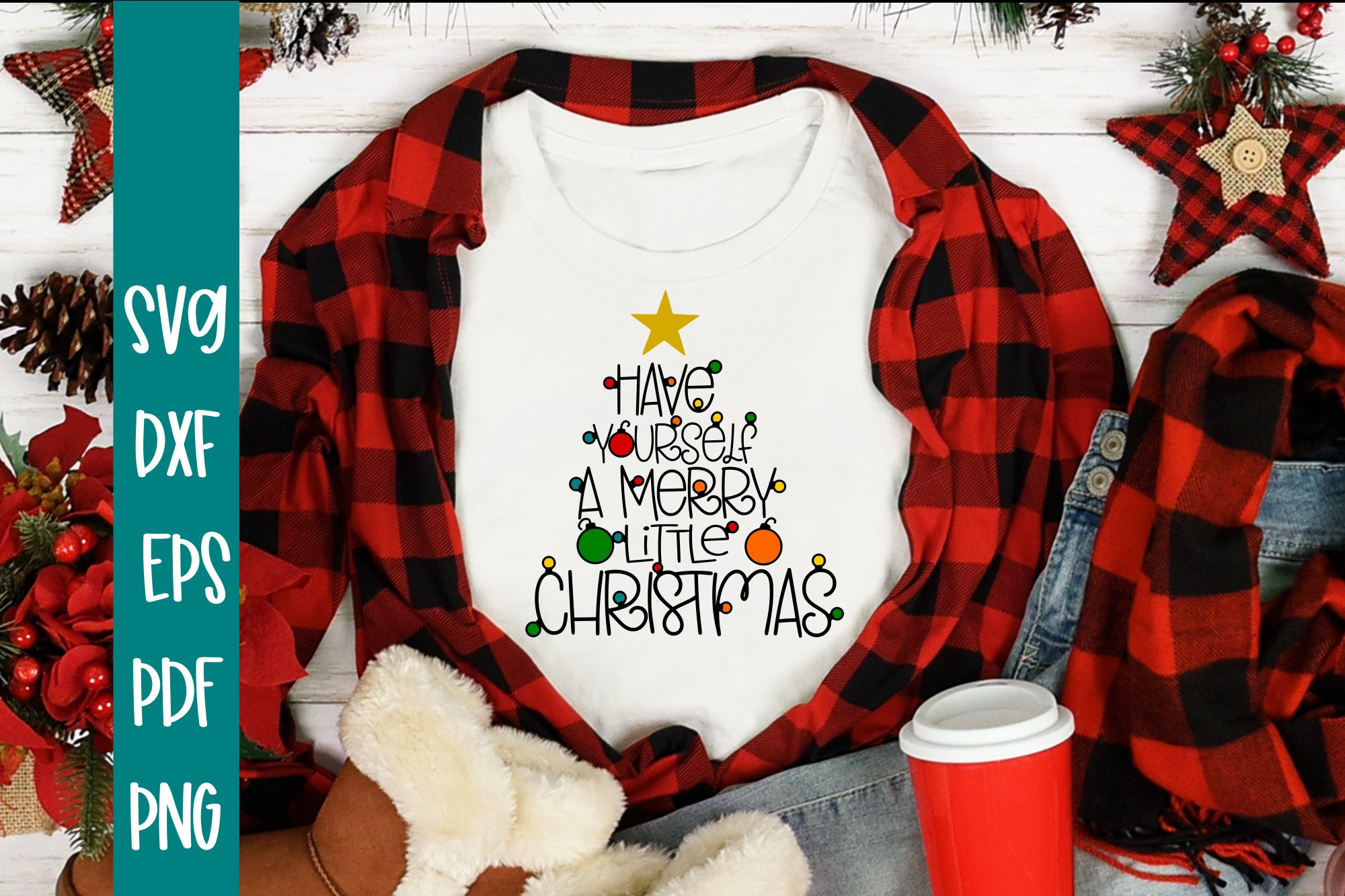 Have Yourself A Merry Little Christmas SVG example image 1