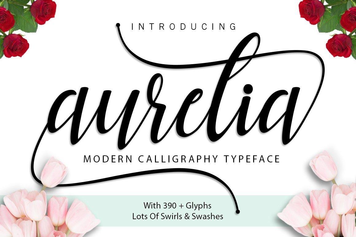 Web Font Aurelia Script example image 1