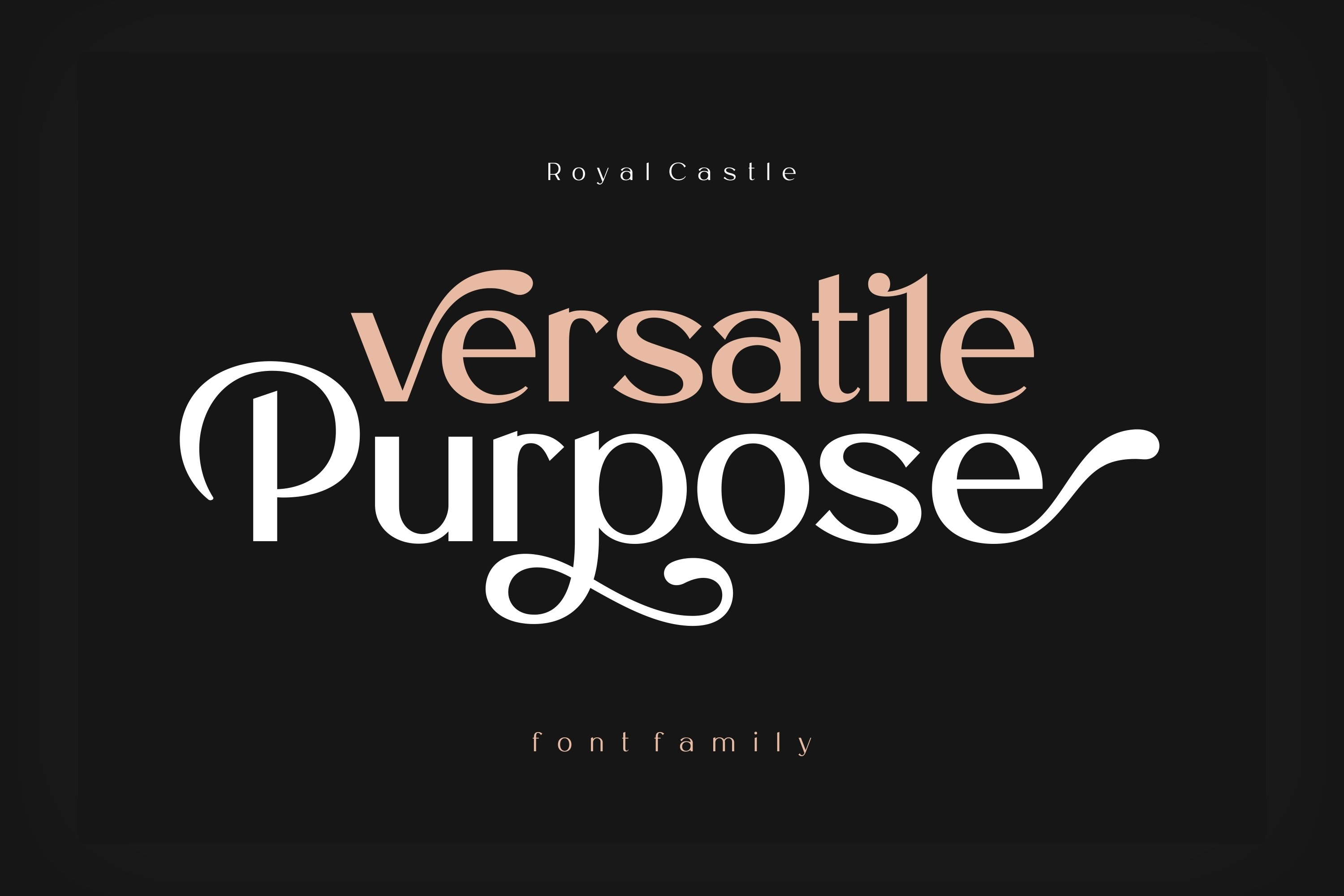 Royal Castle Font Family example image 2