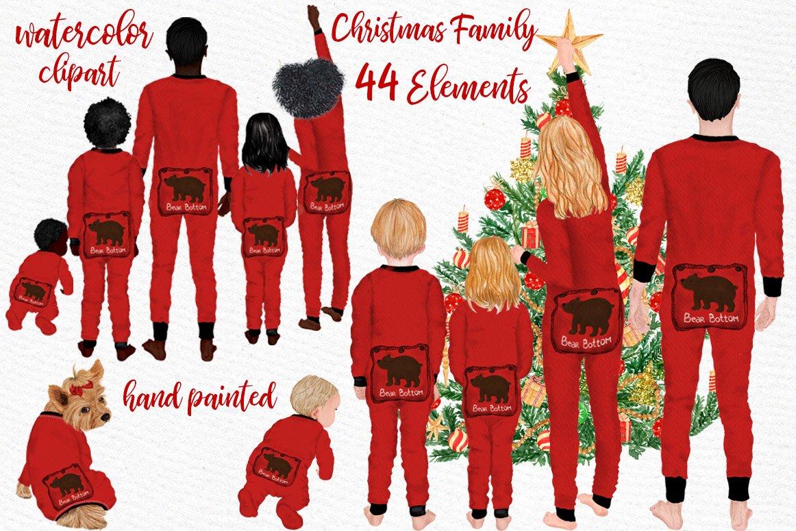 Watercolor Christmas Family Clipart Christmas Mug Designs 283598 Illustrations Design Bundles