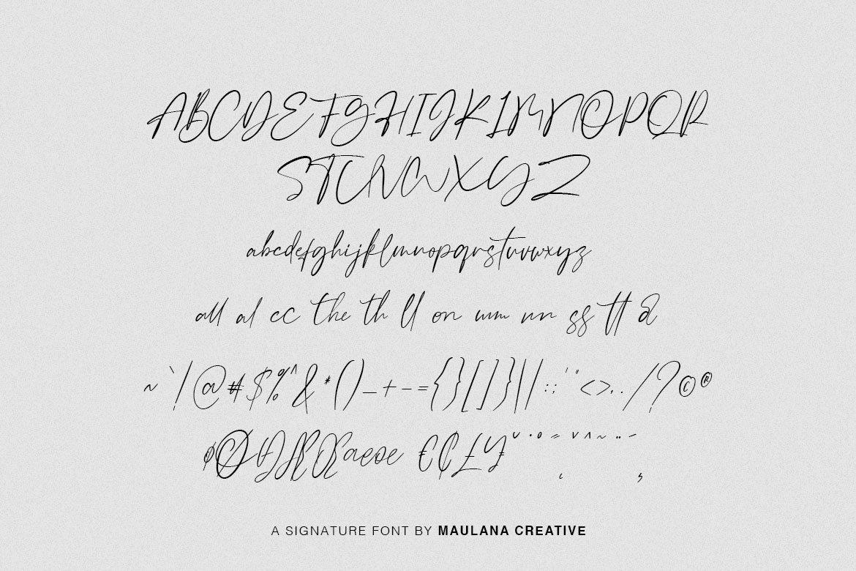 Galgadot Signature Brush Font example image 10