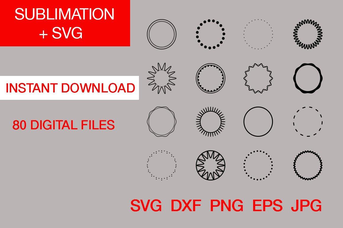 Dotted Circle Border Circle Frame Svg Monogram Frames 911491 Cut Files Design Bundles
