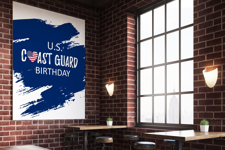 US Coast Guard Birthday svg, USA flag in heart vector example image 3