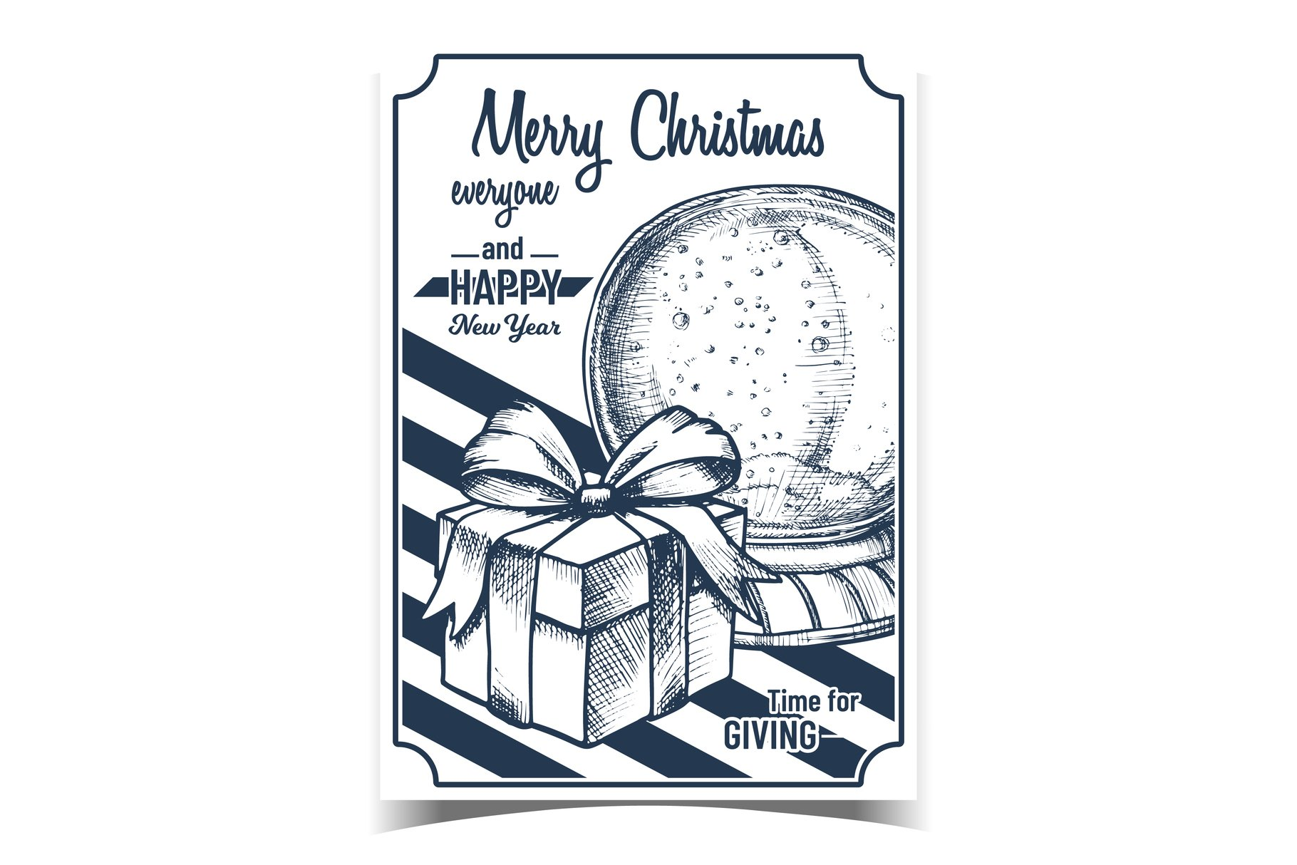Merry Christmas Gifts Advertising Banner Vector example image 1