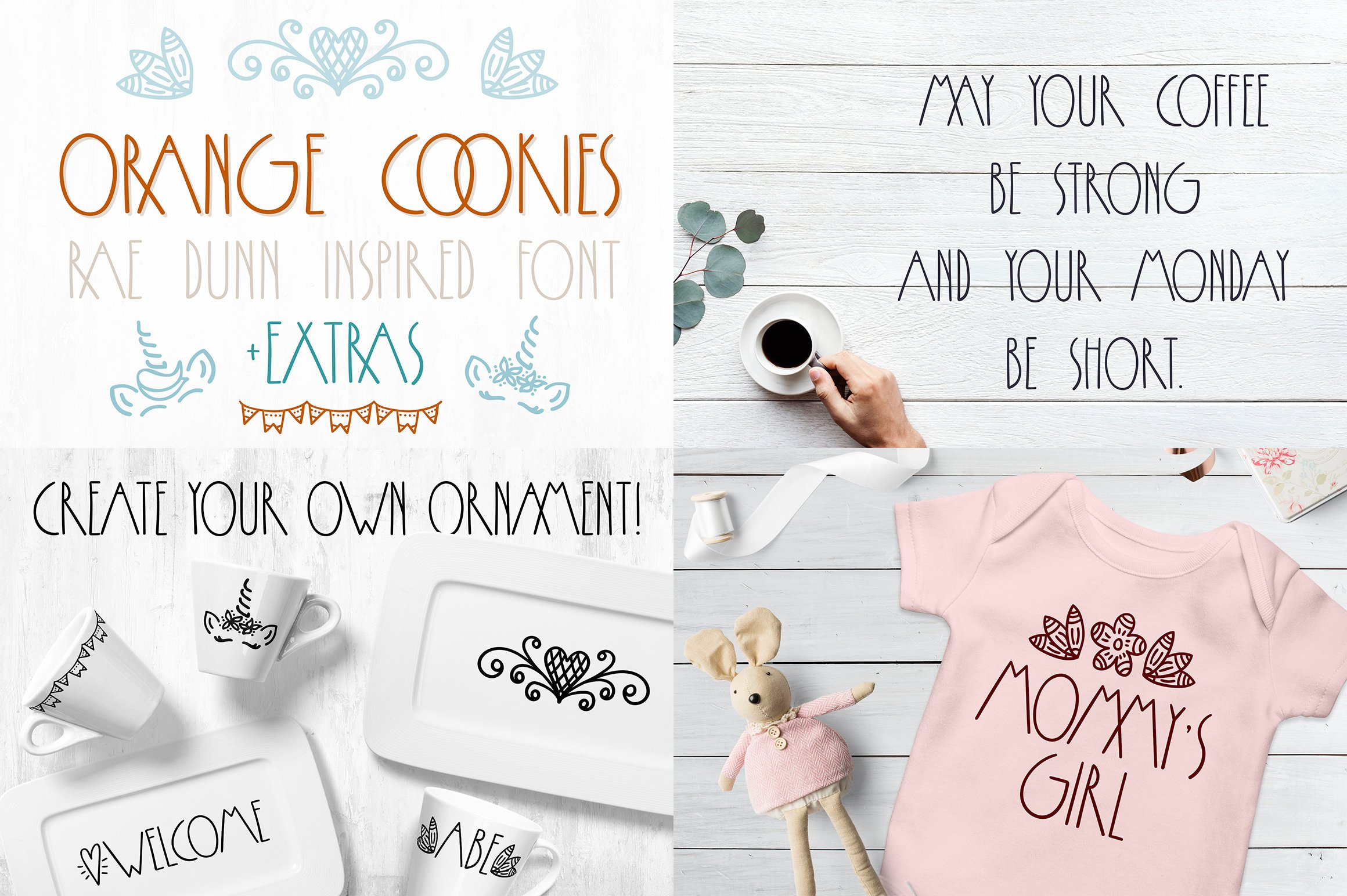 Font bundle - 6 handwritten and calligraphy fonts example image 7