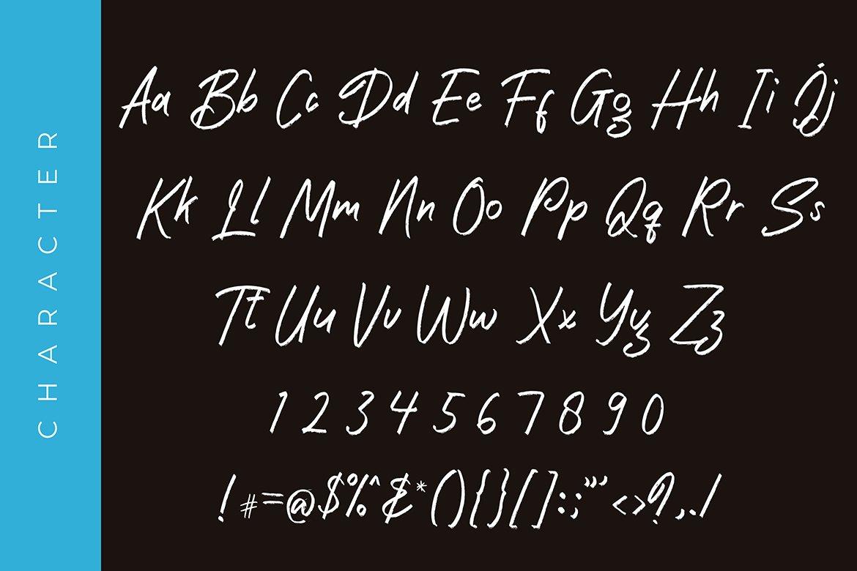 Samudra Brush Handwritten font example image 6
