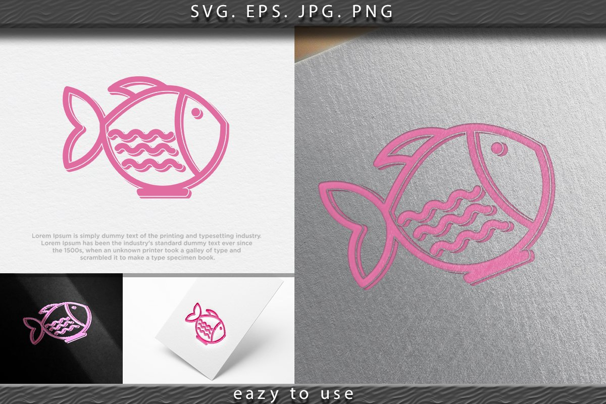 Bowl Fish Japan Restaurant Logo Design Inspiration Isolated 692015 Logos Design Bundles