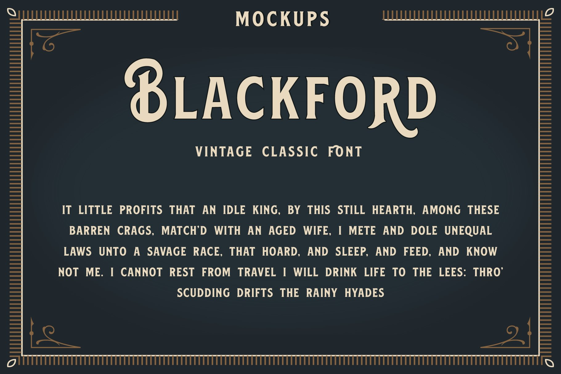 Blackford - Vintage Classic Font example image 3
