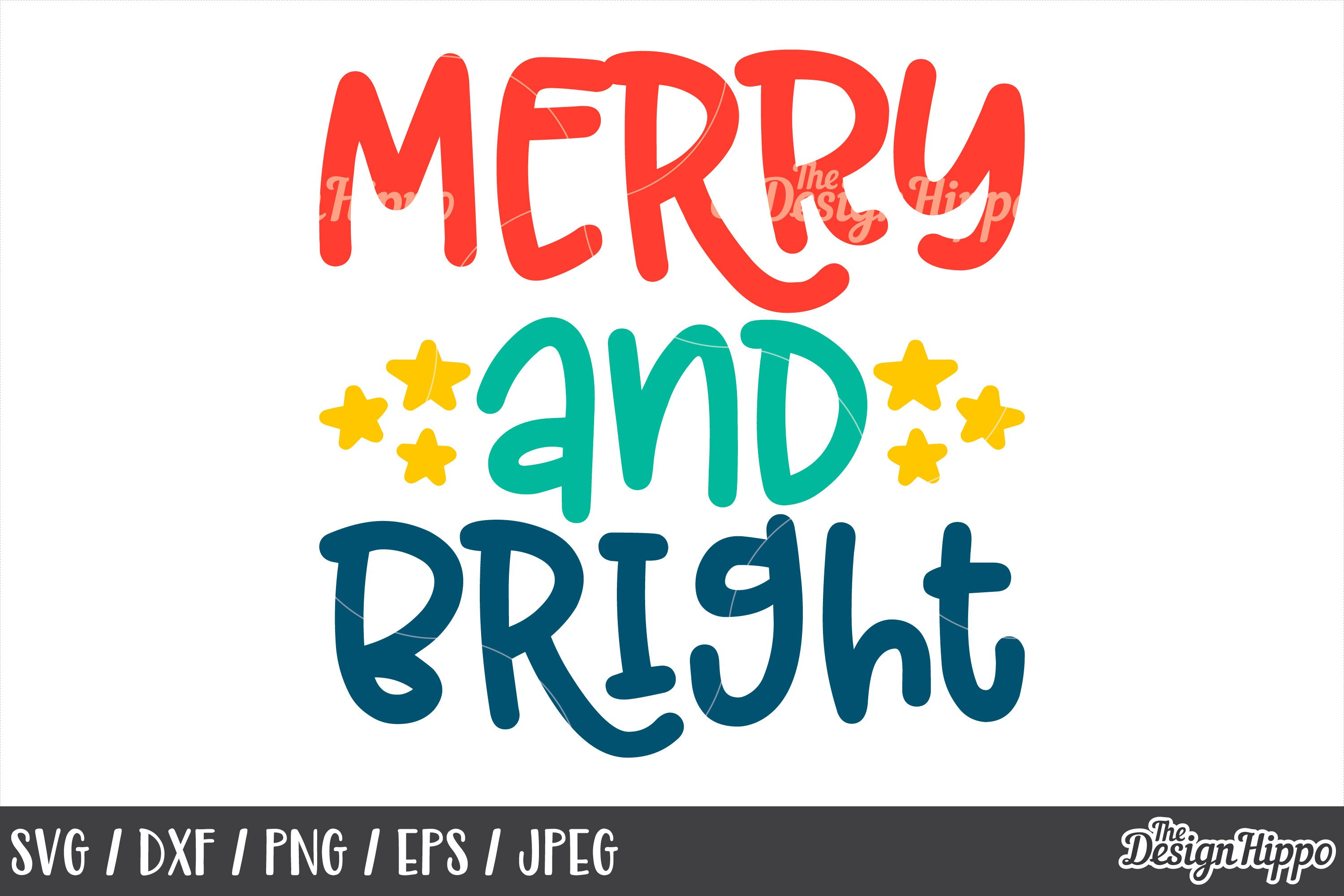 Merry And Bright Svg Dxf Png Cricut Cut Files For Kids 157974 Cut Files Design Bundles