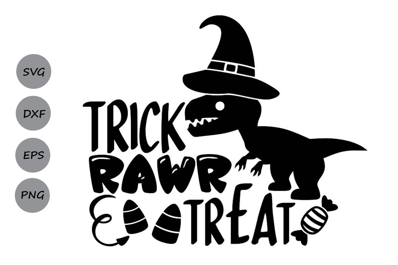 Trick Rawr Treat Svg Halloween Svg Halloween Dinosaur Svg 352241 Cut Files Design Bundles