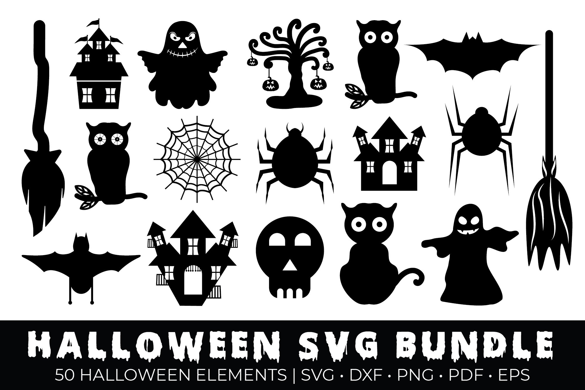 Download Halloween Bundle 40 Svg File Cutting File Clipart In Svg, Eps, Dxf, Png For Cricut & Silhouette SVG