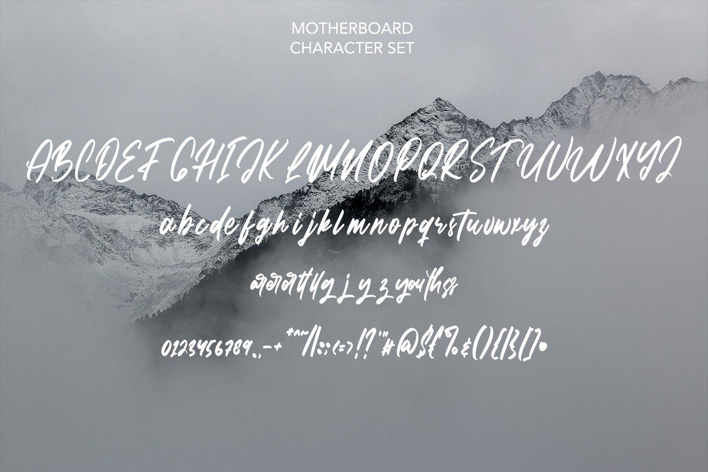Motherboard - Modern Script Font example image 5