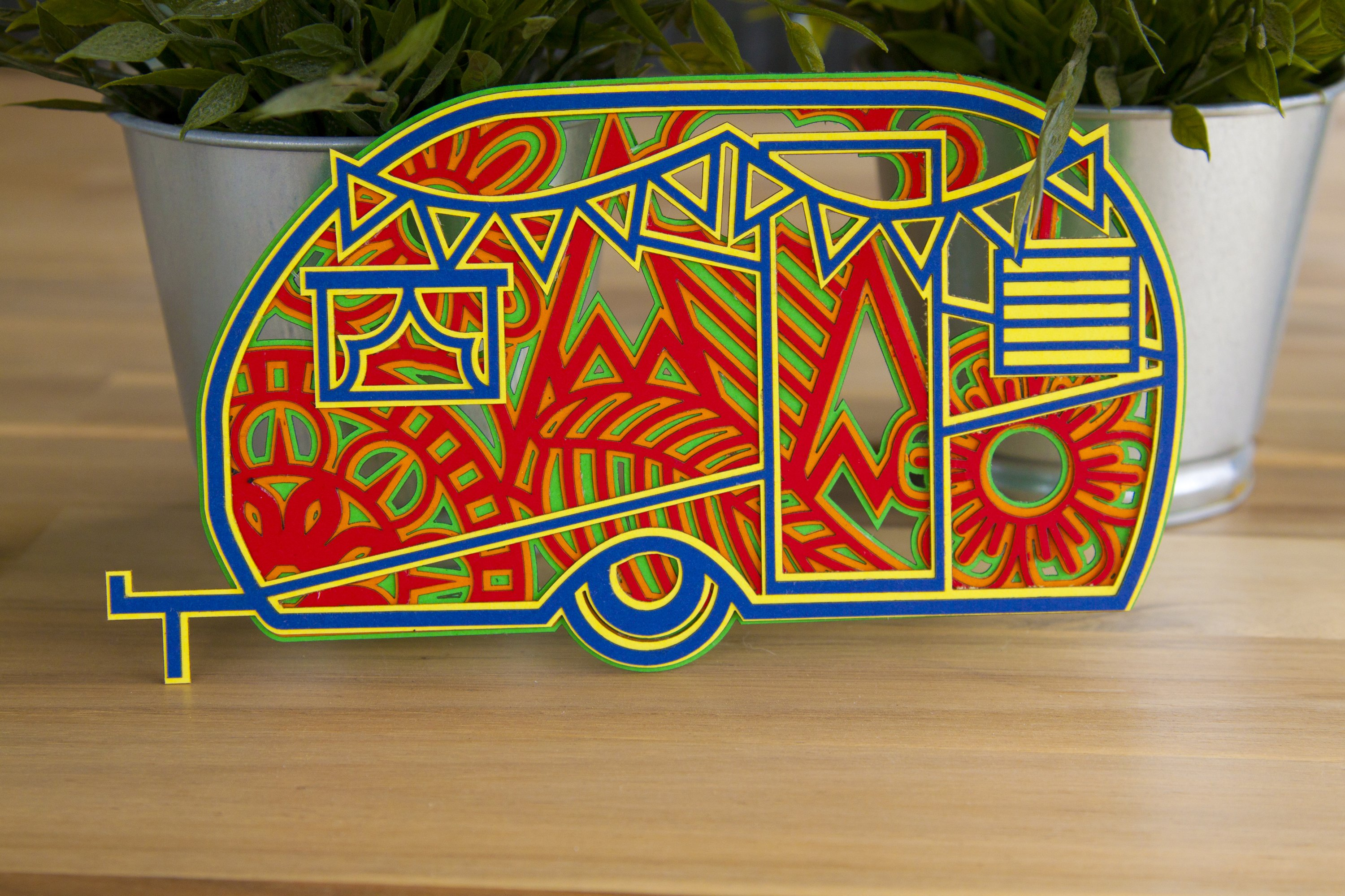 Download 3D Layered Camper Mandala cut file for crafters 5 layers ...