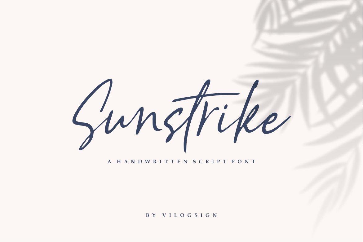 Sunstrike a Handwritten Script Font example image 12