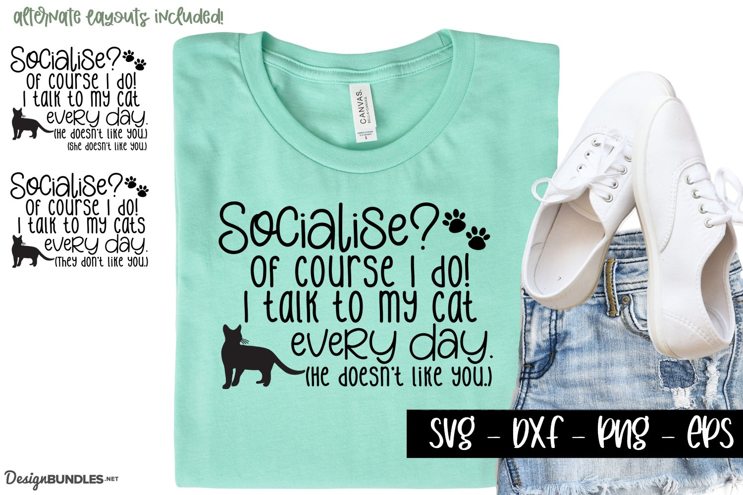I talk to my cats - Funny cat lovers svg example image 1