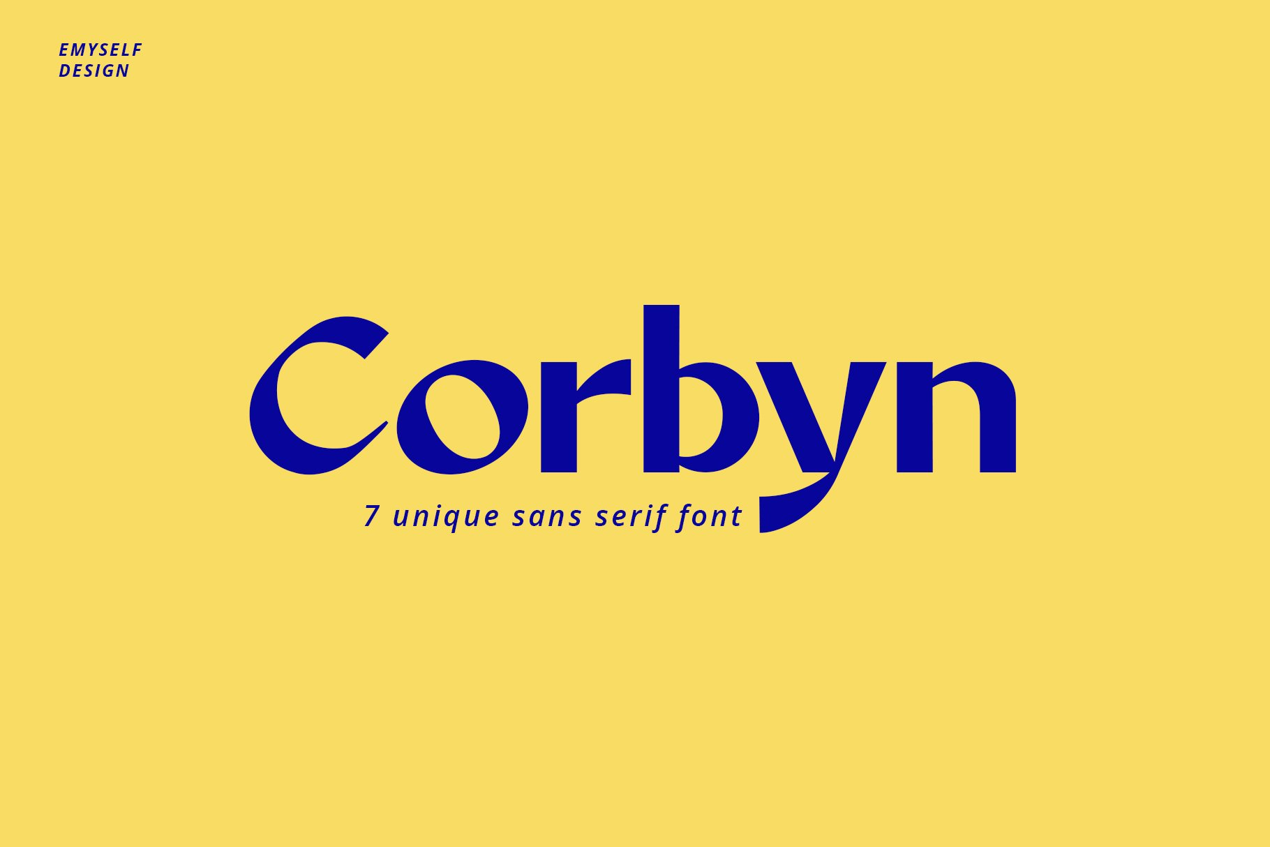 Corbyn Font example image 1