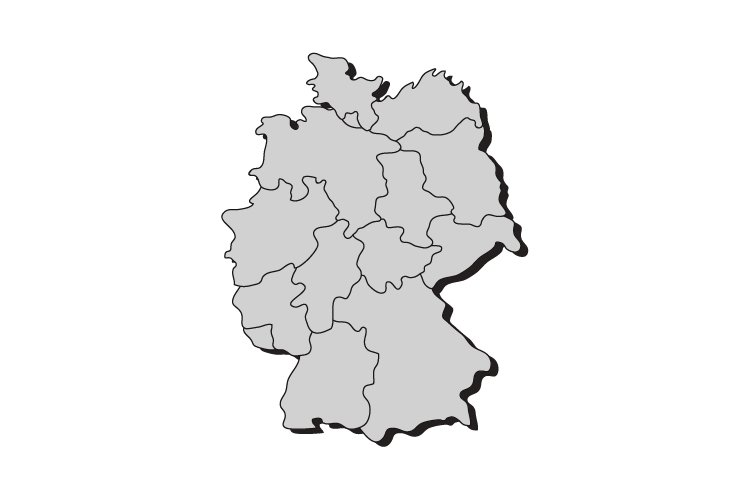 Germany Map With Regions 278356 Illustrations Design Bundles