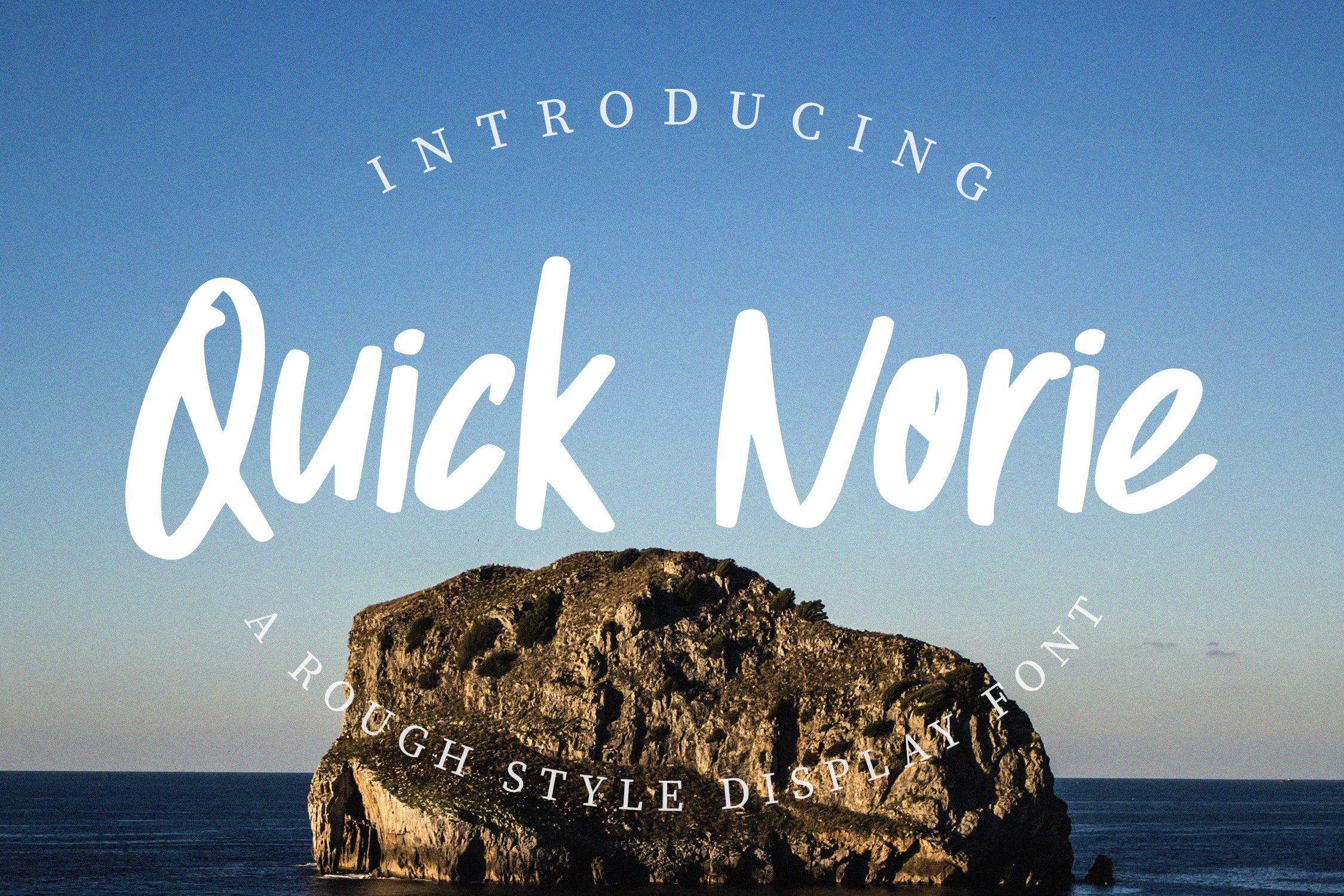 Quick Norie Handbrush Font example image 1