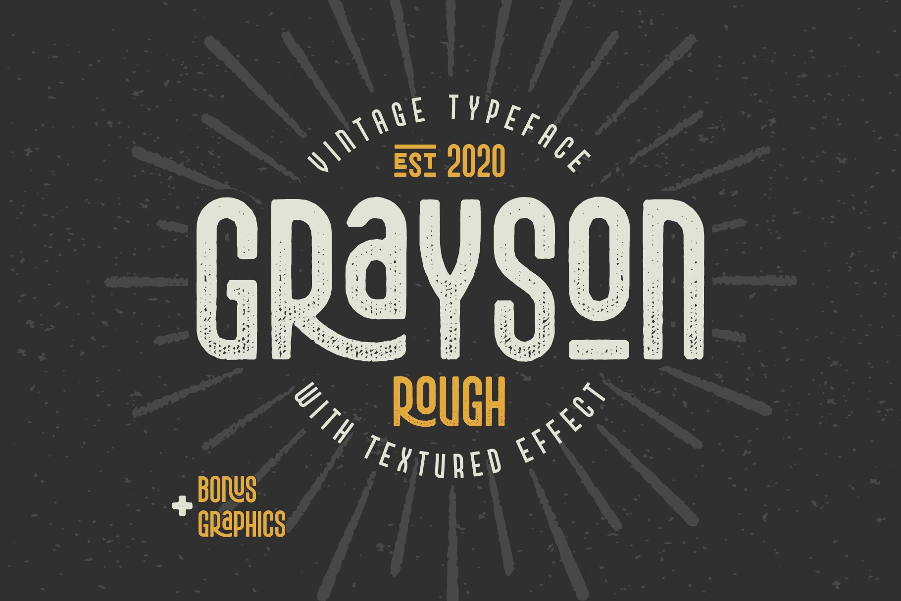 Grayson Rough Font and Graphics example image 1