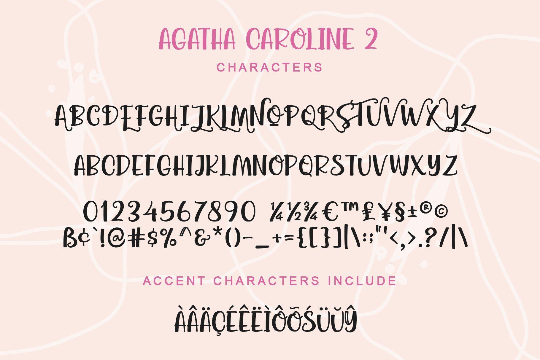 Agatha Caroline - Handwritten Font in 2 Styles example image 7