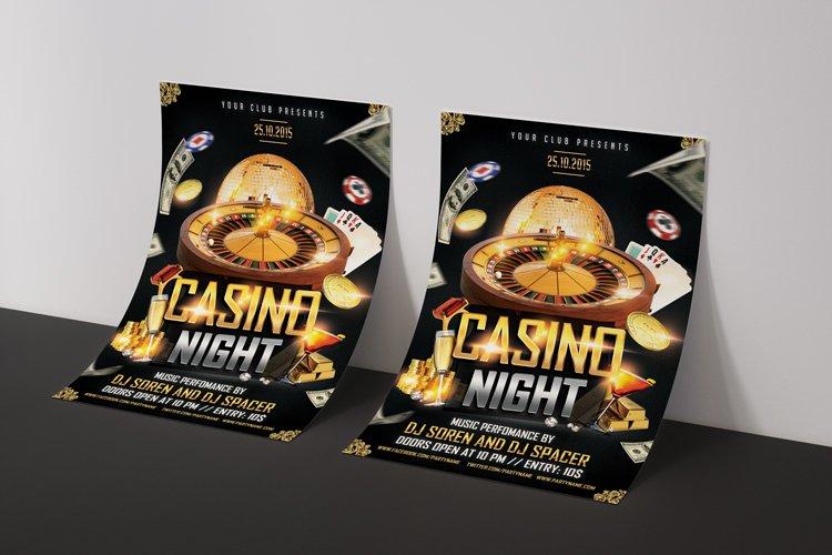 Casino Night Flyer 1 example image 5