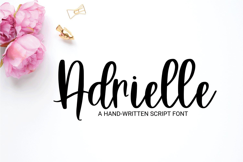 Adrielle - A Hand-Written Script Font example image 1
