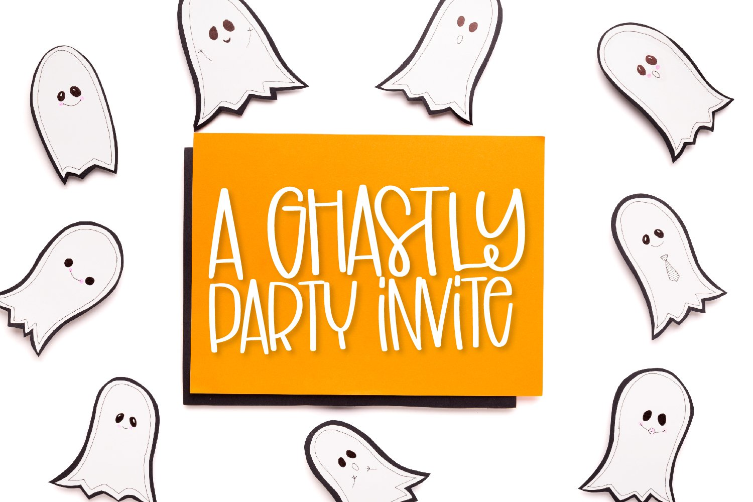 Scary Ghosts - A Spooky Marker Font example image 2