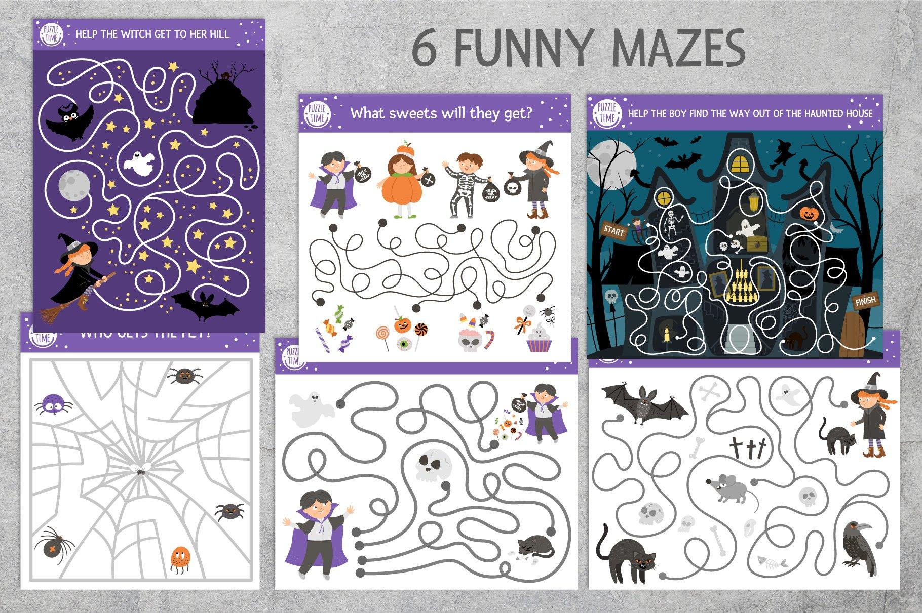 Download Halloween Games 884496 Educational Design Bundles