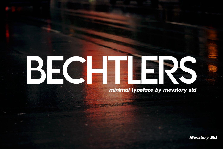 Bechtlers Sans Serif example image 6